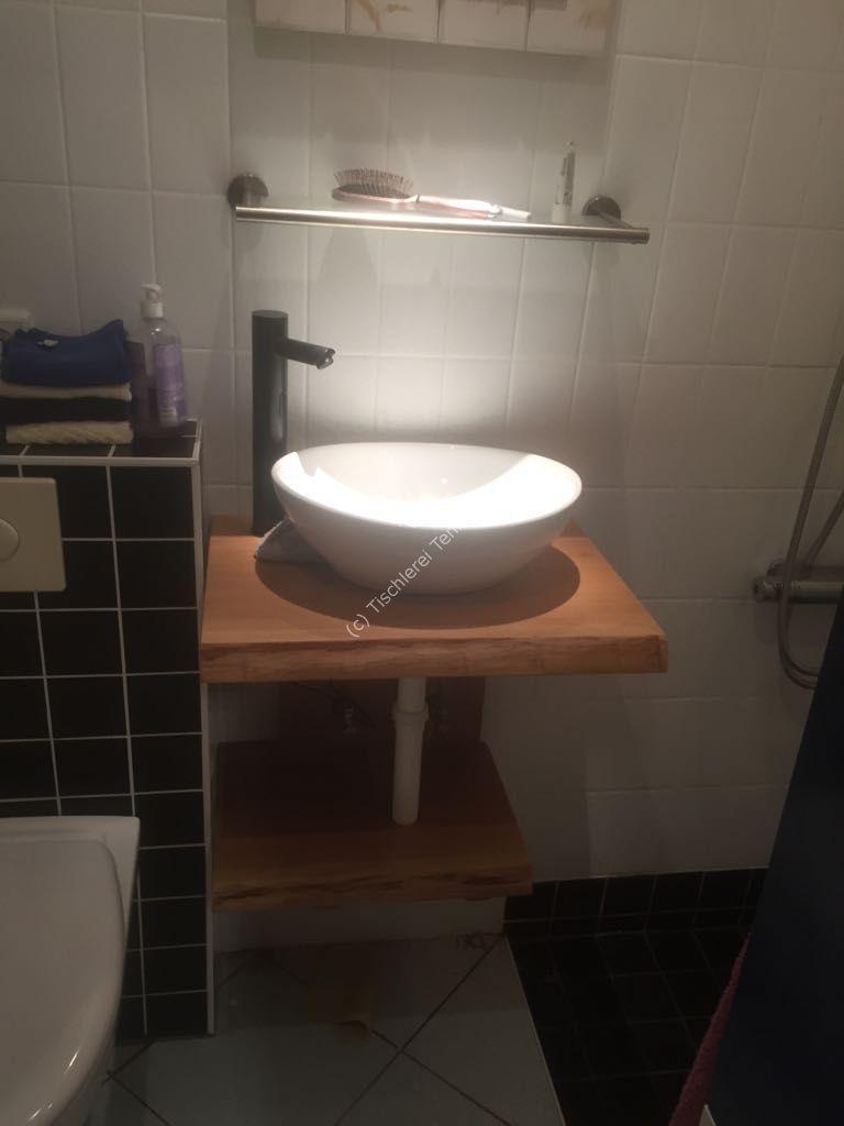 Waschtisch fr Aufsatzwaschbecken