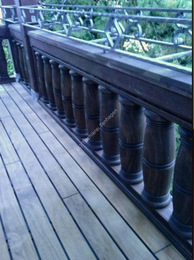 Balkongelaender gedrechselt