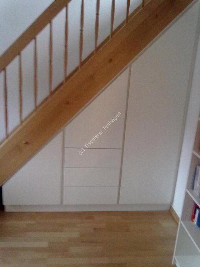Schrank unter Treppe wei�lack